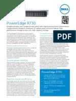 Dell PowerEdge R730 SpecSheet