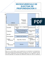 Microcurriculo de Electiva de Profundización II