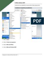 Configuracion en Microsoft Office Outlook 2007