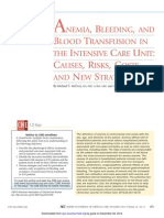 Anemia Bleeding and Blood Transfusion in the Intensive Care Unit