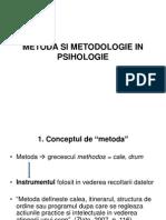 Metoda Si Metodologie in Psihologie