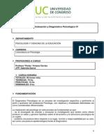 33 Evaluacion y Diagnostico Psicologico IV