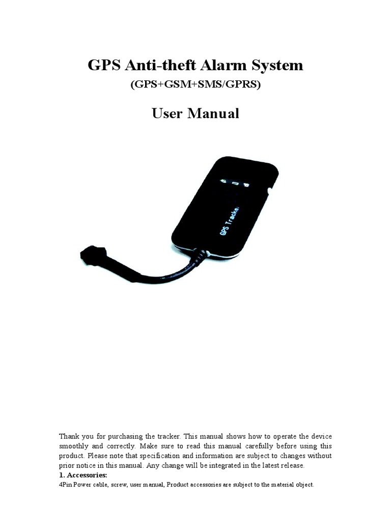 Gt02a Vehicle Gps Tracker User Manual