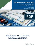 Simulaciones Mecanicas Com Solidworks y Labview