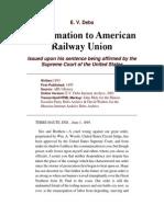 Proclamation to American Railway Union