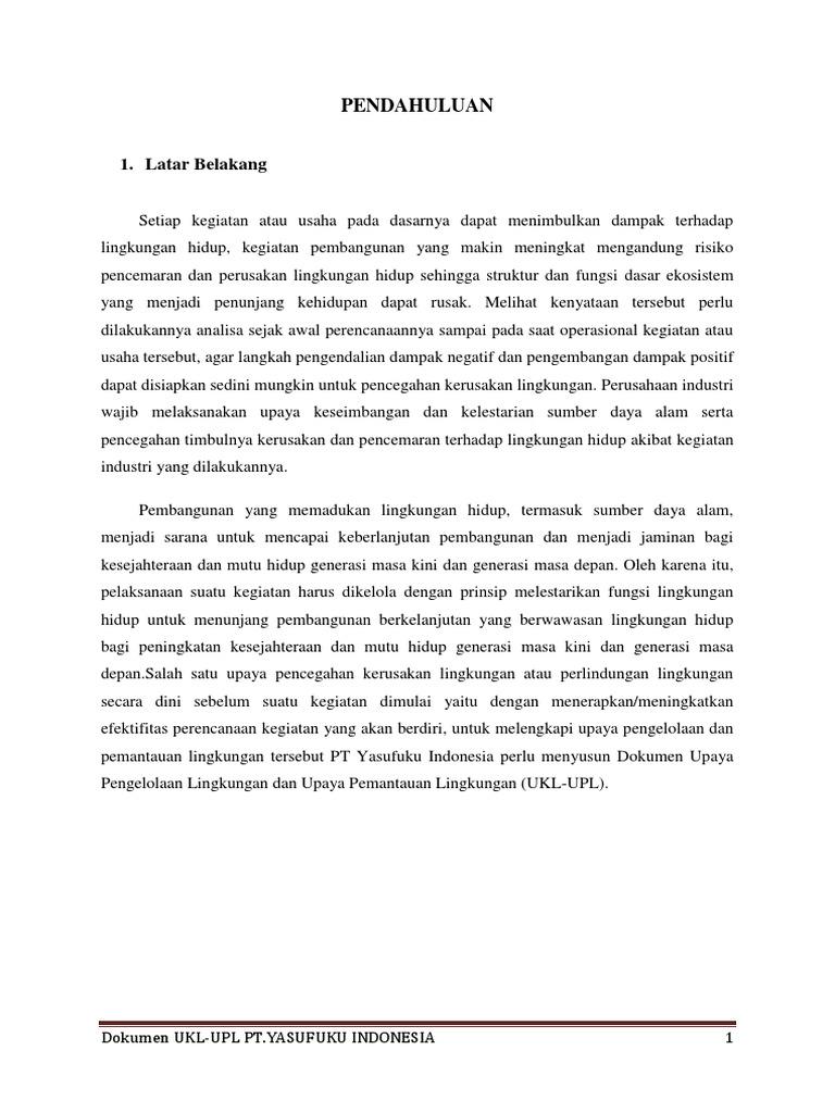 Dokumen Ukl Upl Industri Karet