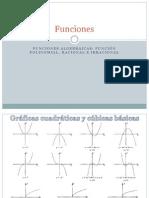 Funciones Polinomiales, Racionales e Irracionales