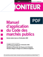 Manuel de marchés publics