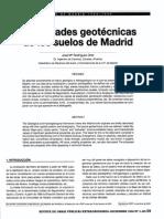 Propiedades geotécnicas de los suelos de Madrid