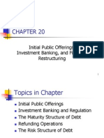 Ch. 20 -13ed IPO, IBanking, Fin Restructuring