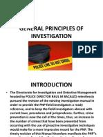 General Principles of Investigation