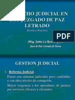 Despacho Judicial en Los Juzgados de Paz Letrado