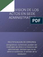 La Revisión de Los Actos en Sede Administrativa