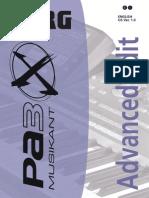 Manual Korg PA3X MUSICANT in limba Engleza