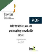 taller de tcnicas y comunicacion eficaces lenguaje corporal