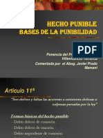 07.l Hecho Punible Base de La Punibilidad
