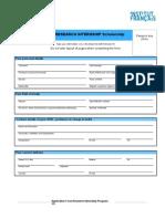 Application Form Research Internship Program