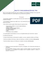 NORMAS DE FORMATO Y ENCUADERNACIÓN TFM