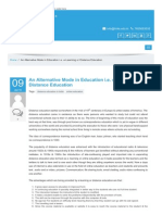 An Alternative Mode in Education i.e. e-Learning or Distance Education