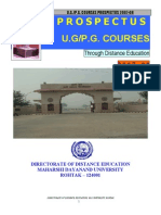 MDU UG PG Prospectus