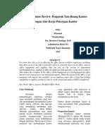 Literature Review Pengaruh Tata Ruang Kantor Dengan Alur Kerja Pekerjaan Kantor