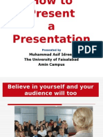 How to Present a Presentation
