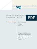 Ownership Changes in Transition Economies