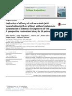 Evaluation of Efficacy of Arthrocentesis
