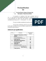 Pre Qualification Report.doc