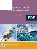 Evolutia Concurentei in Sectoare Cheie 2014