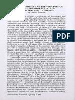 Bouldin, Phenomenology of Animation Spectatorship, 2000