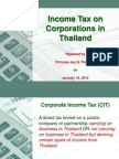 Thailand Corporate Income Tax