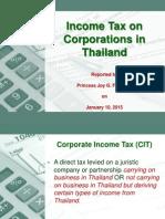 Thailand Corporate Income Tax