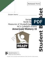 American History II Released NC Final Exam