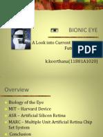 My Technical Seminar Ppt (Bionic Eyes)