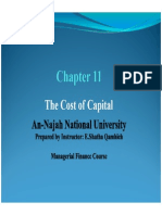 Chapter 11_Cost of Capital_Text and End of Chapter Questions