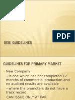 SEBI- guidelines