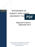 Head of Geography