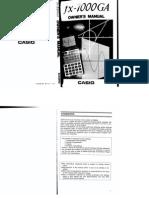 Manual Calculadora FX-7000GA
