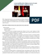 Francisco- Discurso a Autoridades Religiosas Turcas 28-11-14 La Violencia Que Busca Una Justificación Religiosa Merece La Más Enérgica Condena