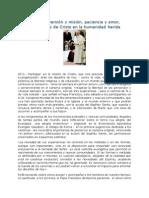 Francisco- Discurso Al Congreso Mundial de Movimientos Eclesiales 22-11-14 Conversión y Misión, Paciencia y Amor, Testimonios de Crsito en La Humani