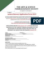 Jackets Bursary Application Form 2015