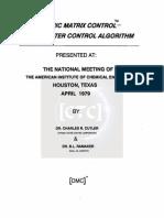 Dynamic Matrix Control_A Computer Control Algorithm