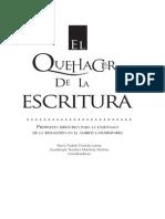 El Quehacer de La Escritura. Maria Ysabel Gracida. UNAM