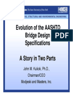 PRESENTATION John Kulicki Part Bridge Design Specs History