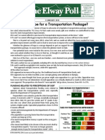 Elway Poll Transportation 010814