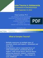 Diapositivas. Treating Complex Trauma in Adolescents - Lanktree (2013).pdf