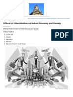 Effects of Liberalization of Indian Economy and Society