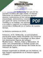 Historia  Egipcia y Catastrofe (Velikosky)