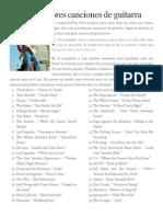 Las 100 Mejores Canciones de Guitarra